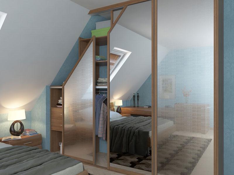 Шкаф под скошенный потолок35